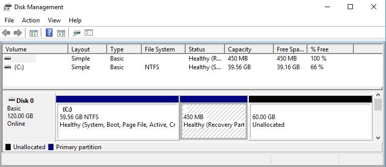 VMWare Windows 10 expand/partition problem – Carpe Diem Systems Ltd